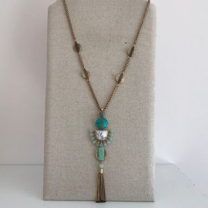 Stella & Dot Totem Tassel Pendant Necklace